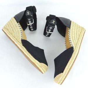 Sperry Top-Sider Espadrilles Wedges Black size 10M